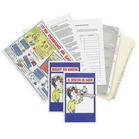 BRADY BR803E Index Tabs,Chemical/Hazmat Training