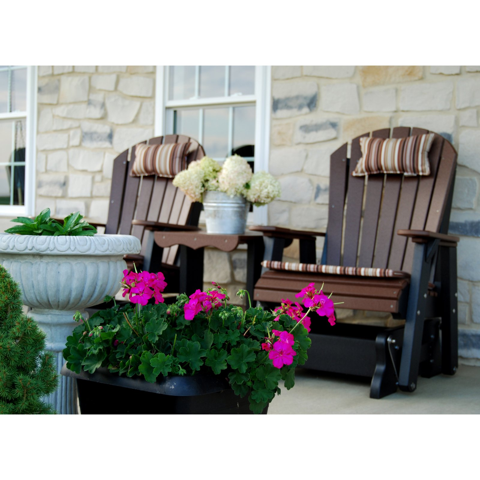 Wildridge Heritage Rock A Tee Double Seat Patio Glider   Walmart.com