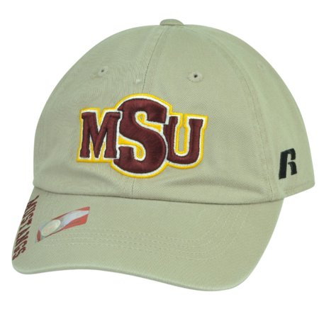 NCAA Midwestern State Mustangs Russell Garment Wash Relax Hat Cap Sun Buckle MSU