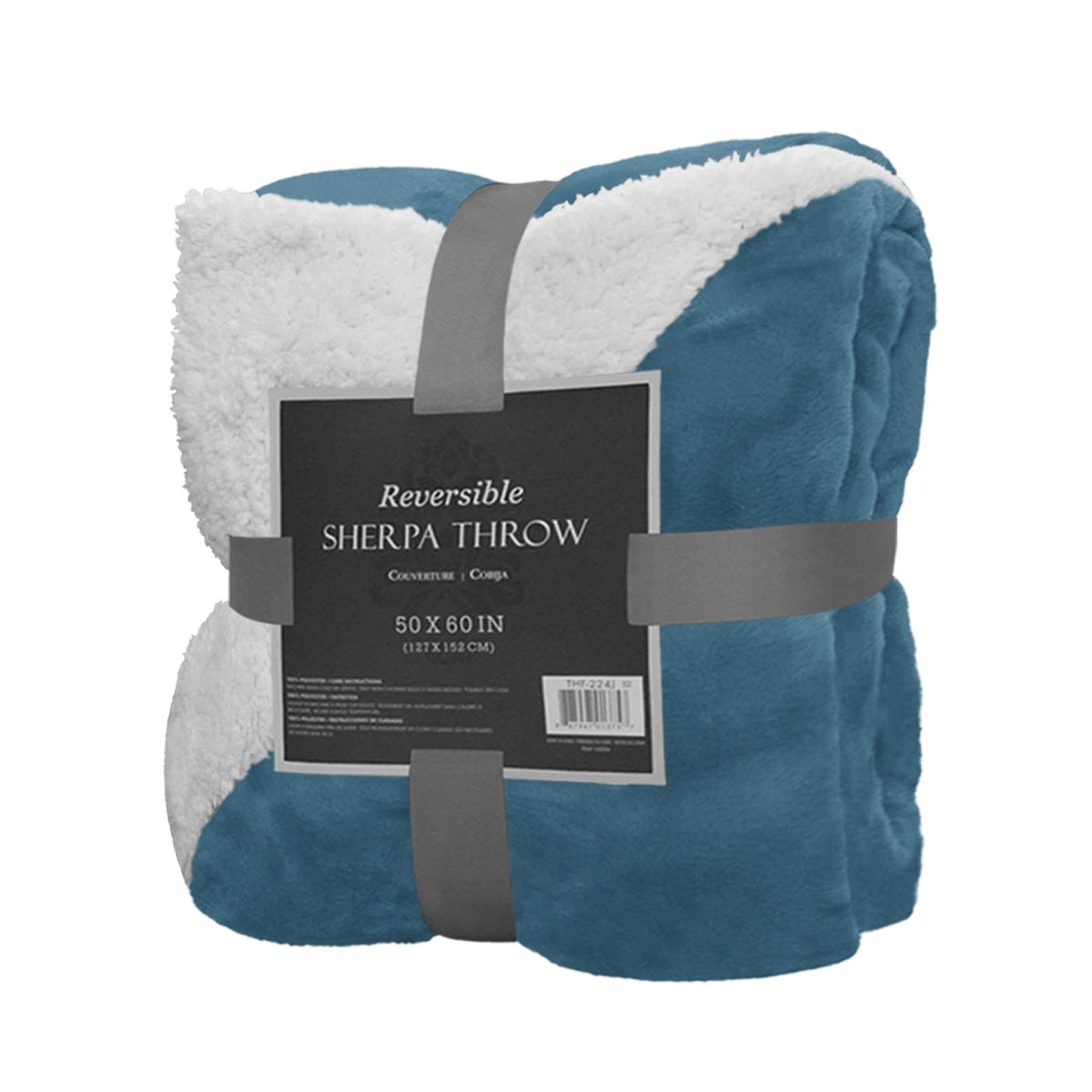 reversible sherpa throw blanket 50 x 60 color warm soft plush