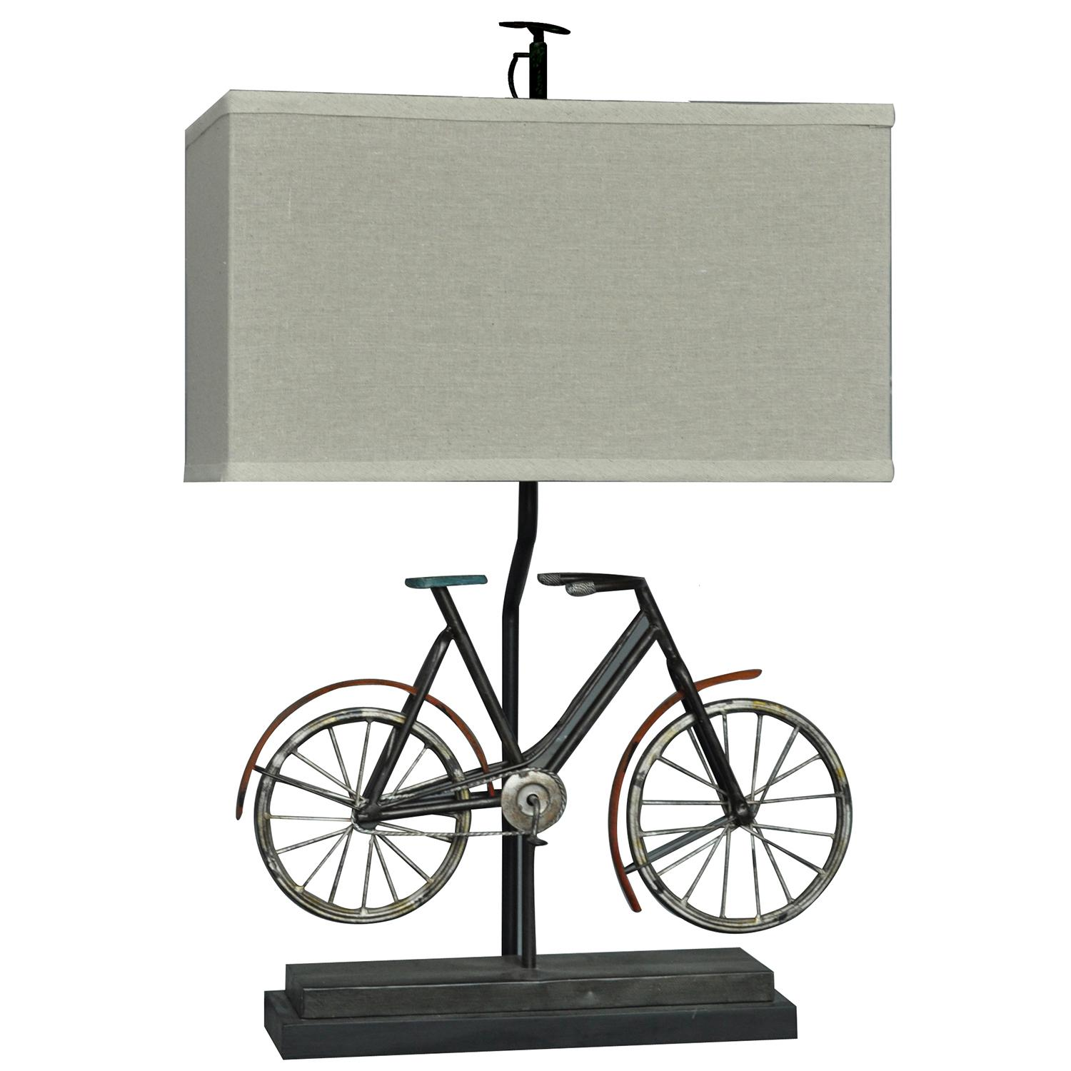Biking 26.5-Inch Table Lamp, Rustic Bike