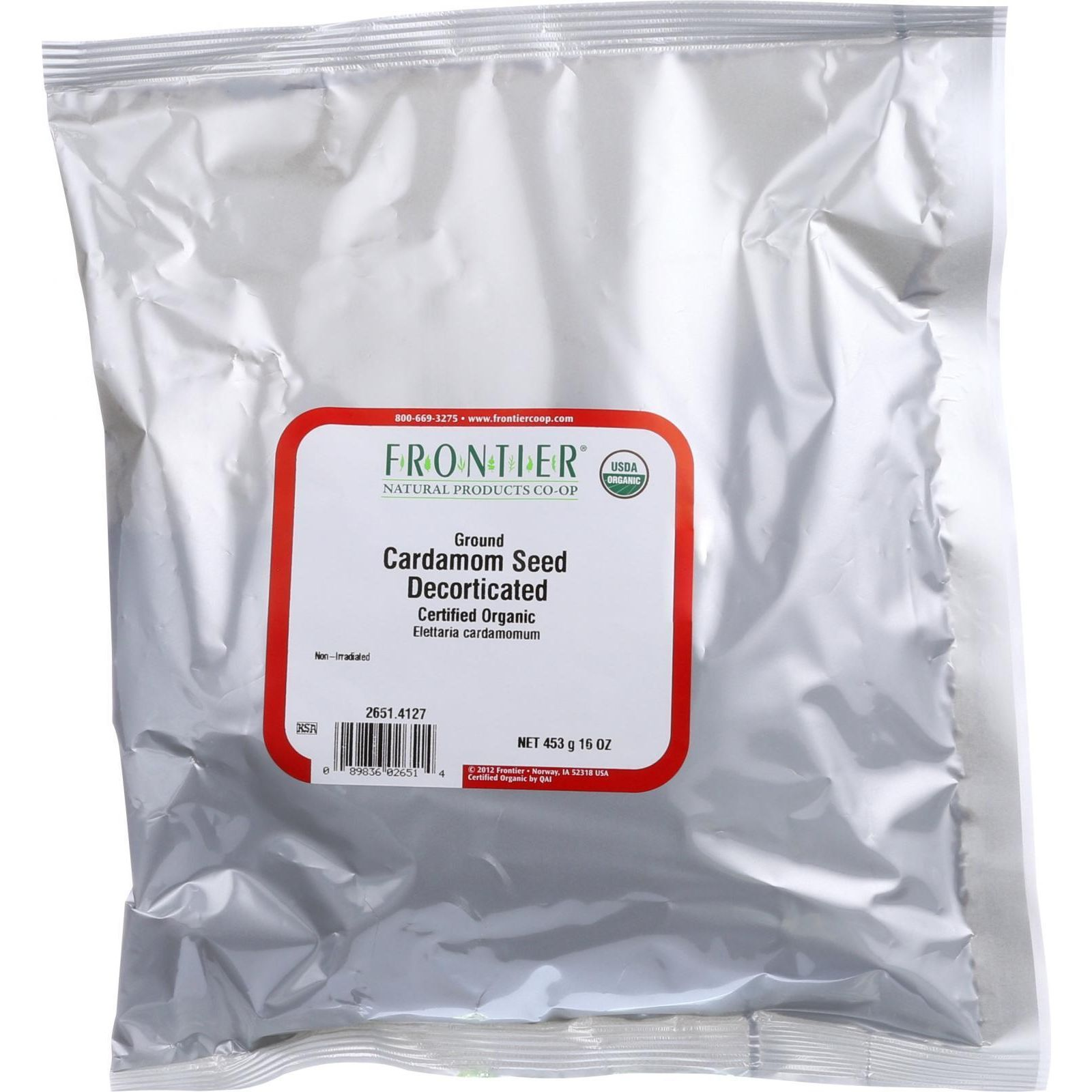 Frontier Natural Products Organic Ground Cardamom Seed, 1 Lb