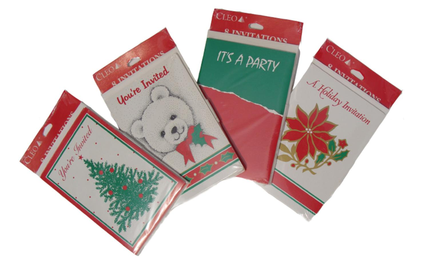 Club Pack of 288 Christmas Holiday Party Invitation Cards
