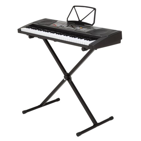 Homegear Musical Instruments 61 Key Electronic Piano Keyboard with Stand / USB Accompaniment (Paper Piano Keyboard)