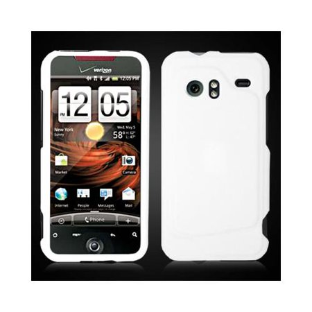White Snap-On Hard Case Cover for HTC Droid Incredible 6300