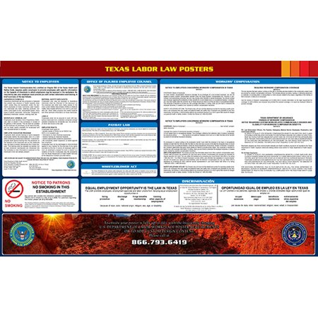 Halloween Weather 2017 Texas (Compliance Assistance: 2017 Texas State All-In-One Labor Law Poster- Up to Date, Thick Lamination, Compact, OSHA)