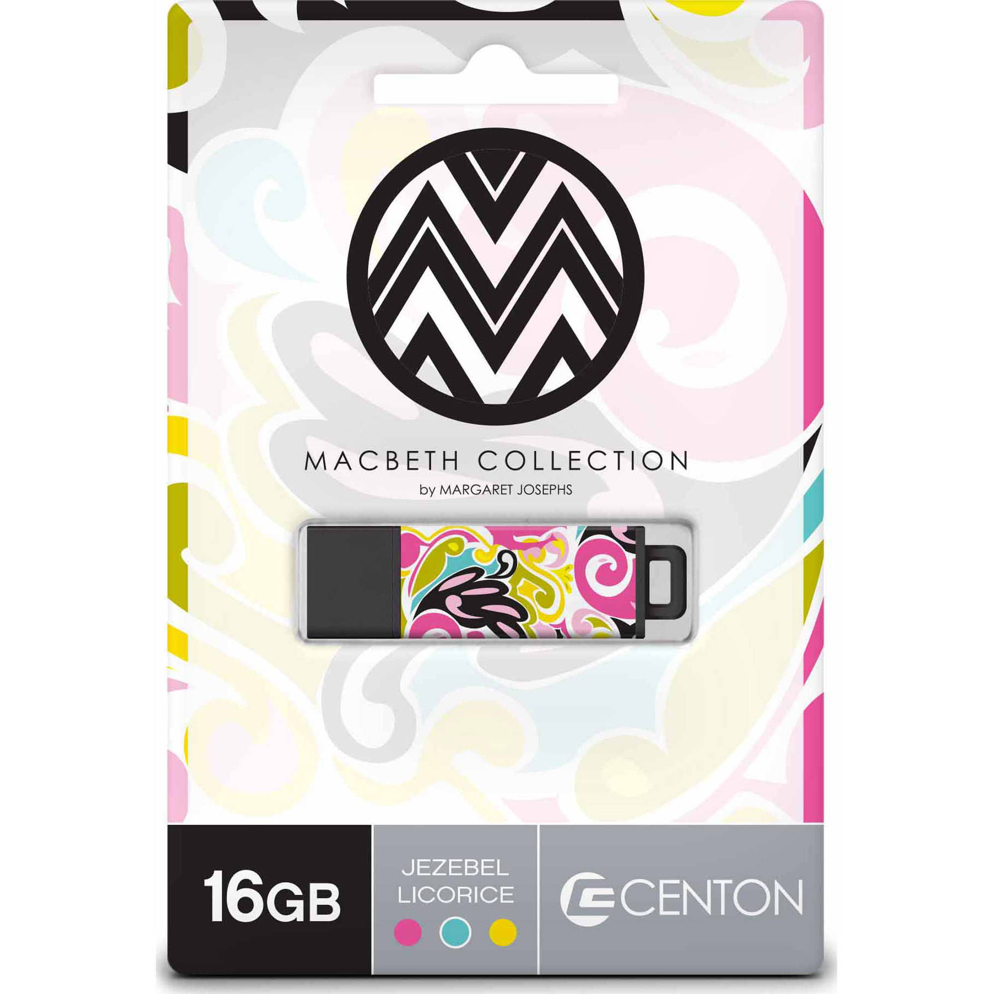 Centon 16GB PRO2 Macbeth USB Flash Drive, Jezebel Licorice