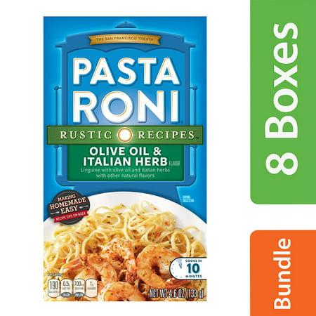 (8 Pack) Pasta Roni Rustic Recipes, Olive Oil & Italian Herb, 4.6 oz. Box