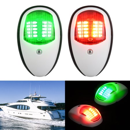 EEEkit One Pair LED Navigation Lights Red and Green Lights Marine Sailing Signal Lights 12V Bow Side Port Starboard for Boating Fishing Yacht, Pontoons, Chandlery Boat, Skeeter
