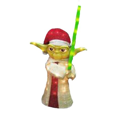 Star Wars 3 D Yoda With Lightsaber Lighted Outdoor Christmas Decoration 28