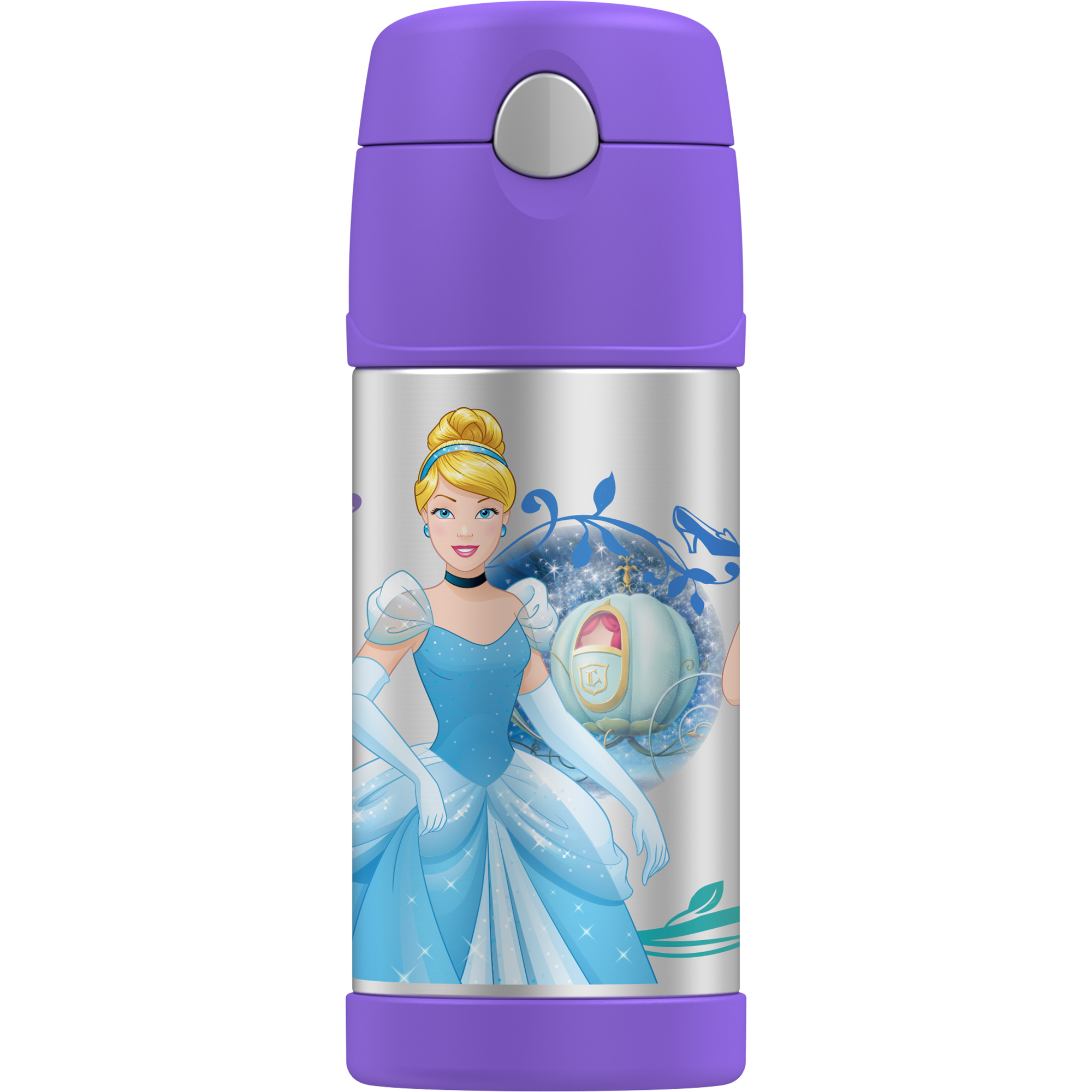 GENUINE THERMOS BRAND FUNTAINER Vacuum Insulated Straw Bottle, 12-Ounce, Disney Princess