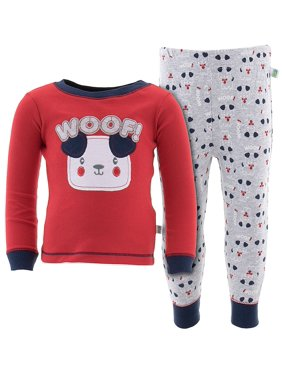 Duck Duck Goose Little Boys' Red Woof! Dog Cotton Pajamas