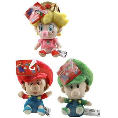 Luigi And Princess Peach (super mario brothers 5