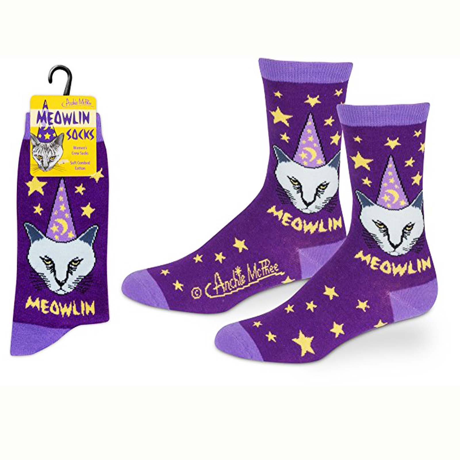 Accoutrements Meowlin Cat Womens 1 Pair Of Crew Socks Walmartcom