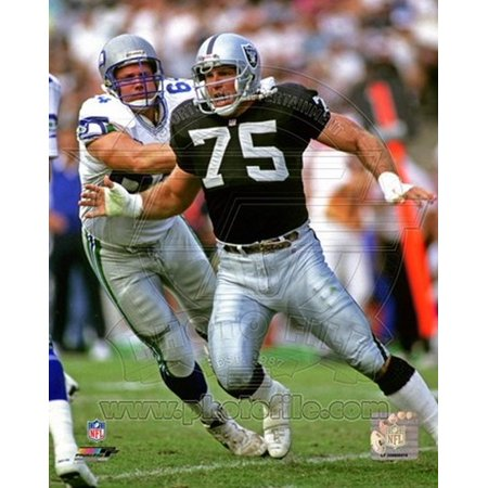 Howie Long 1992 Action Sports Photo