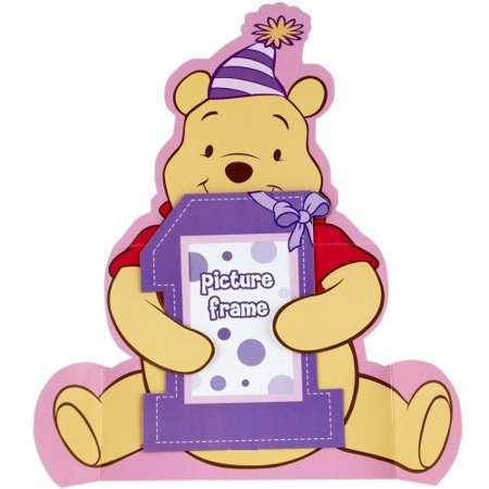 Winnie the Pooh Girl's 1st Birthday Photo Holder Centerpiece (1ct) (Birthday Photo Holder)