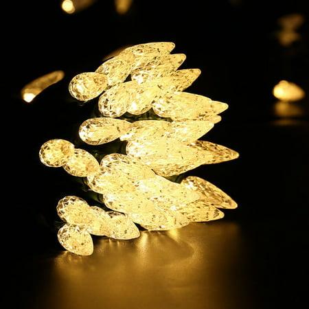 diamond strawberry led christmas light string 33ft 100 led bulbs