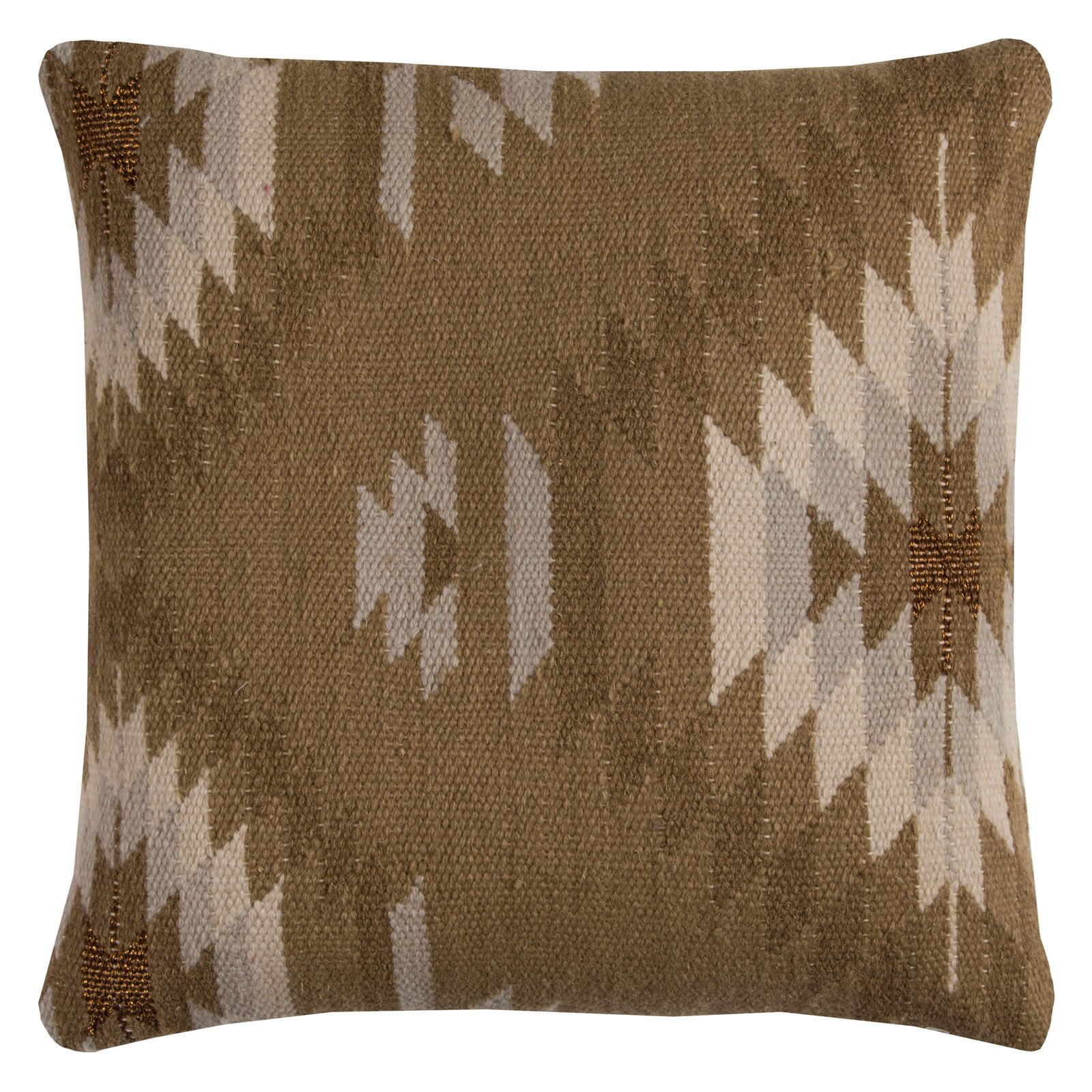 "Rizzy Home T11579 20"" x 20"" Throw Pillow with Hidden Zipper"