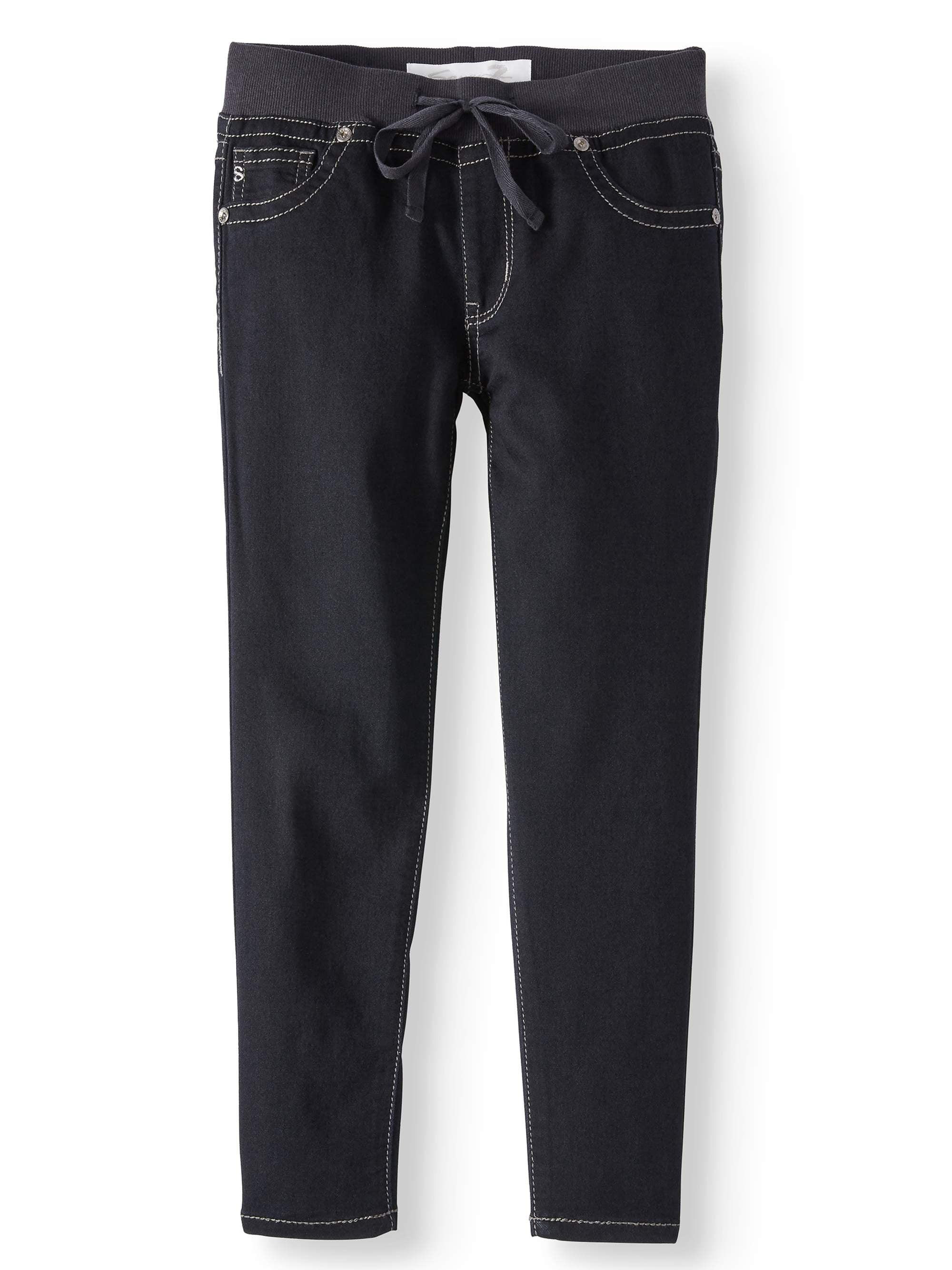 Knit Waist Ankle Skinny Jean (Big Girls)