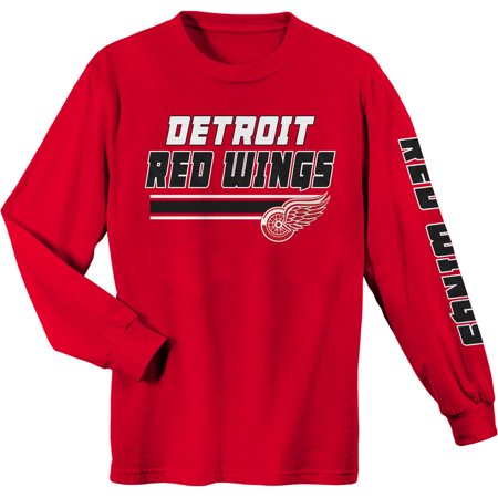 Tomas Holmstrom Detroit Red Wings - Youth Red Detroit Red Wings Long Sleeve T-Shirt
