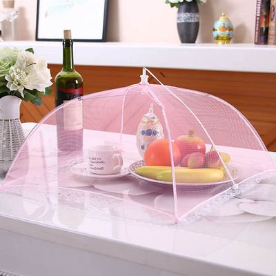 Image of SHIYAO Food Cover Tent Umbrella, Large Pop-Up Reusable and Collapsible Outdoor Picnic Food Covers Mesh, Food Cover Net Keep Out Flies