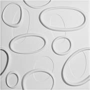 "Ekena Millwork 19 5/8""W x 19 5/8""H Felix EnduraWall Decorative 3D Wall Panel, White"