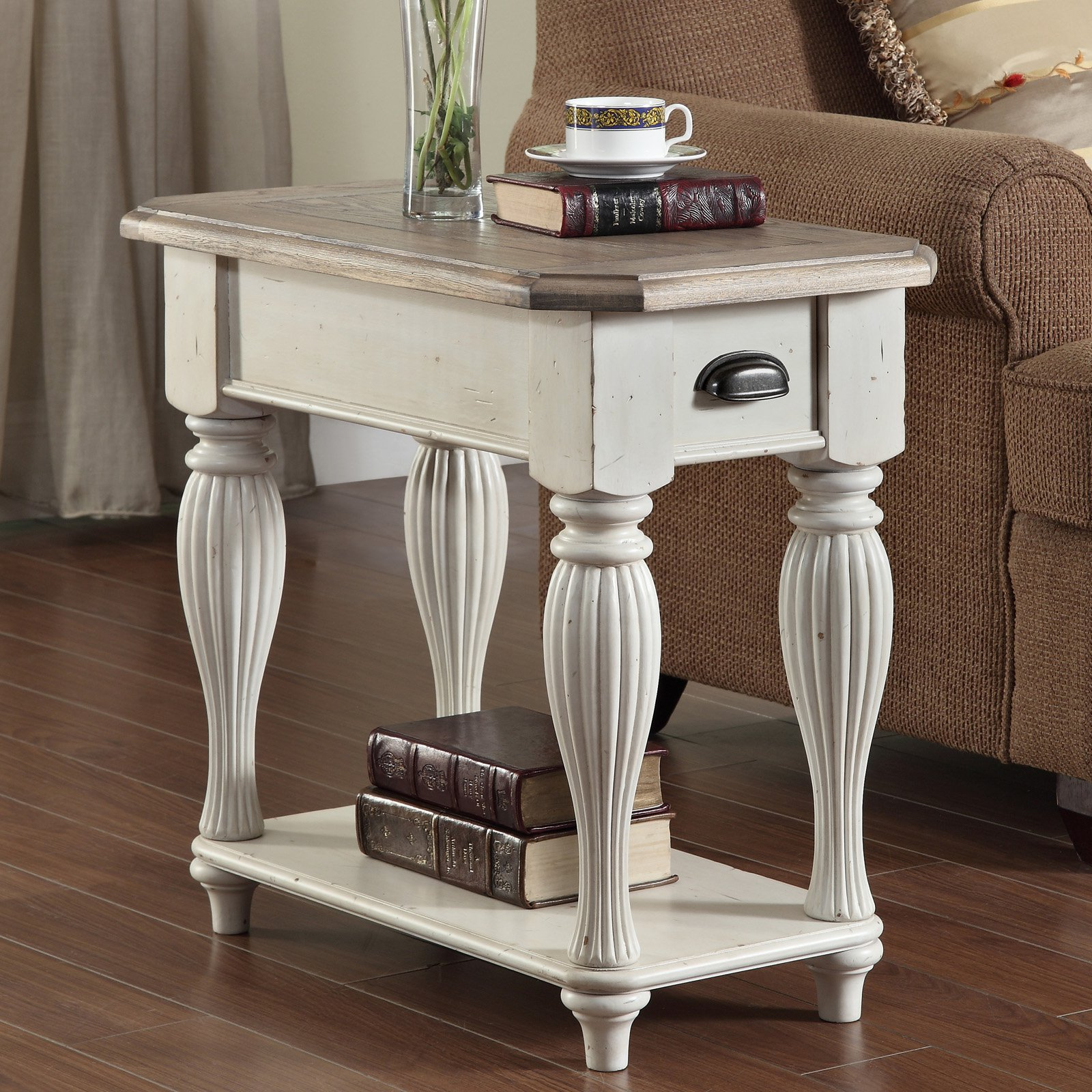 Riverside Coventry Two Tone Chair Side Table