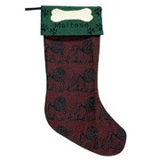 Dog Lovers Maltese Christmas Stocking