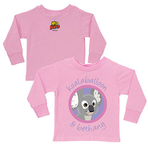 Personalized Wild Kratts Koalaballoon and You Pink Girls' Long-Sleeve Tee