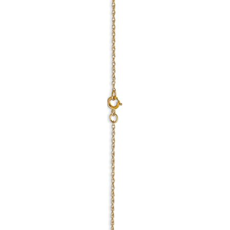 14k Yellow Gold .6 mm Carded Cable Rope Chain - image 2 of 6