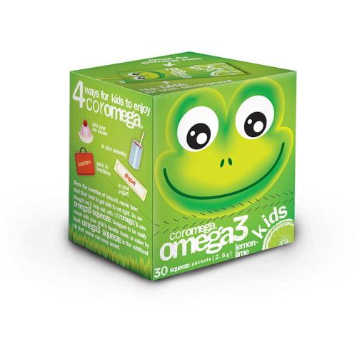 Coromega Kids Omega3 Squeeze Lemon Lime, 30ct