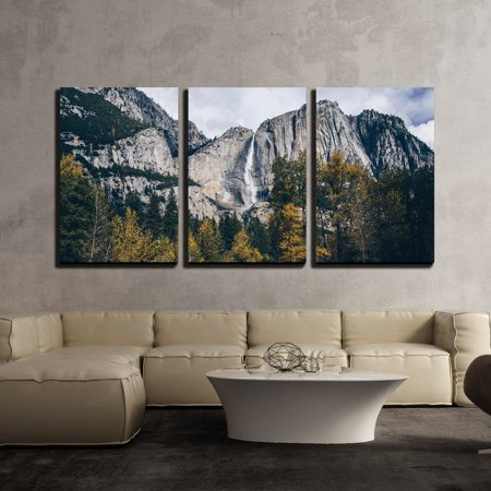 wall26 - 3 Piece Canvas Wall Art - Autumn Landscape Rocky Mountain - Modern Home Decor Stretched and Framed Ready to Hang - 24