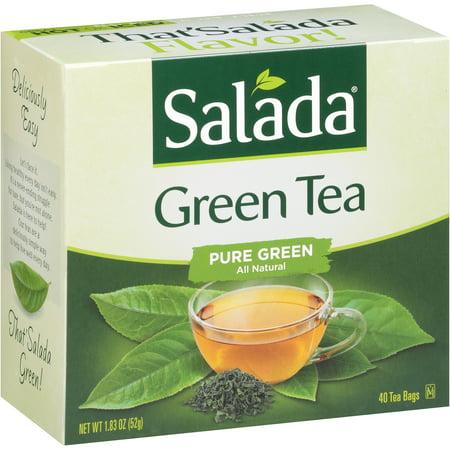 Salada Sacs de thé vert, 40 comte, 1,83 oz