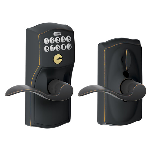 Schlage Accent Keypad Lever with Camelot Trim