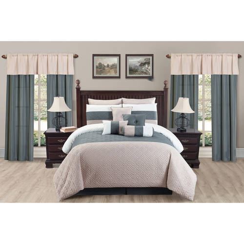 Somorset 20 Piece Oversize & Overfilled King Comforter Set in Taupe