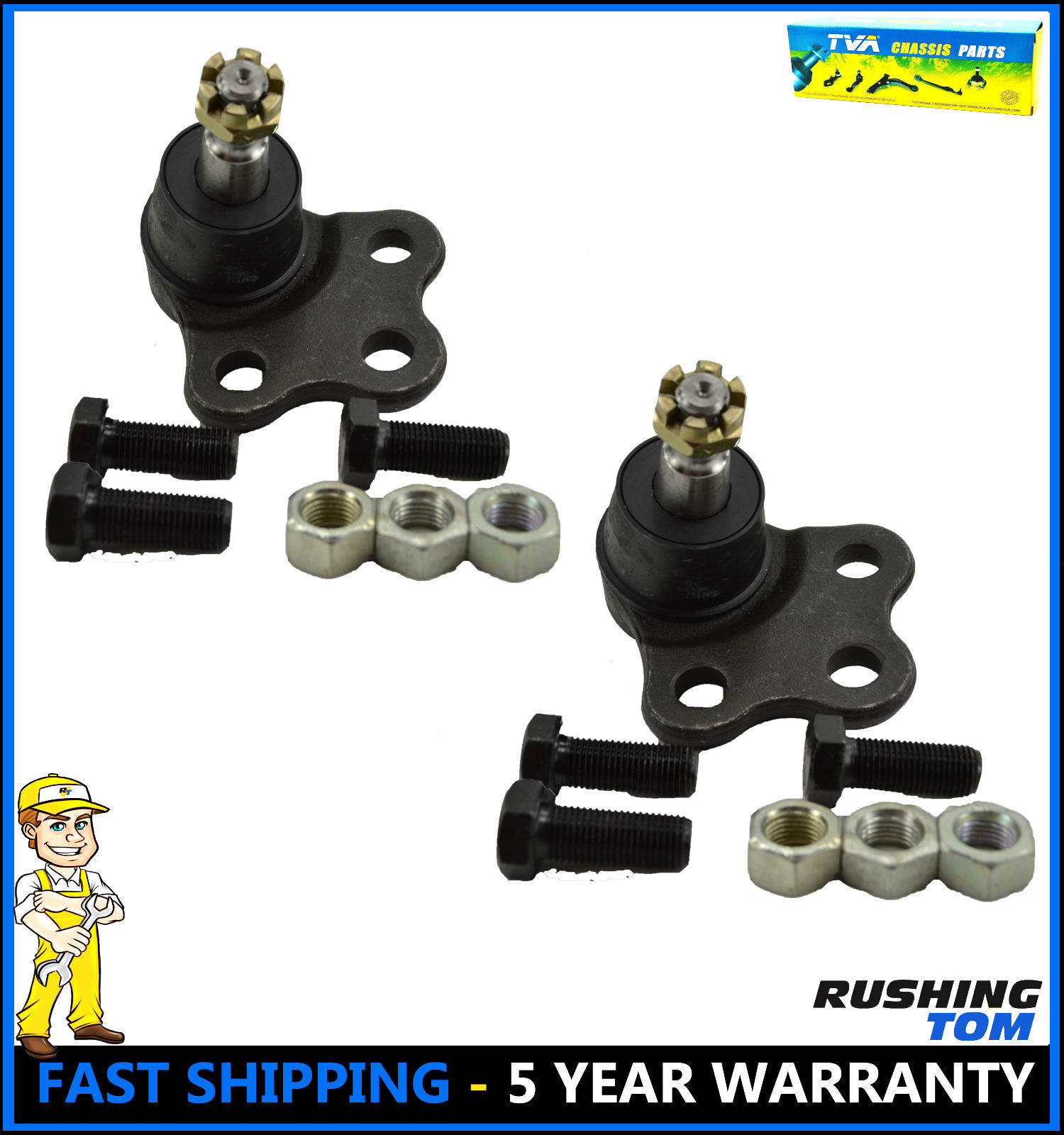 2 Front Lower Ball Joints for Pontiac Torrent Saturn Vue Chevy Brand New
