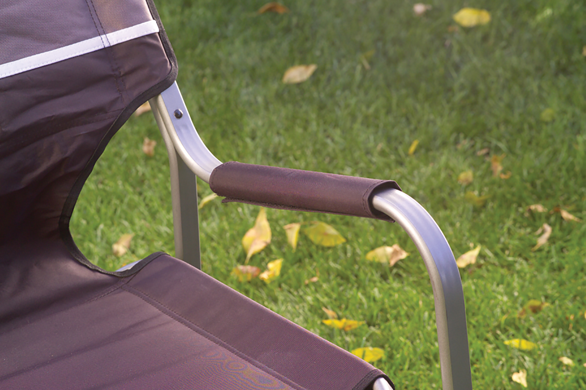 Coleman Deck Chair With Folding Table Portable Aluminum