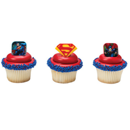 Super Man 12pack Cupcake Decoration Toppers for $<!---->