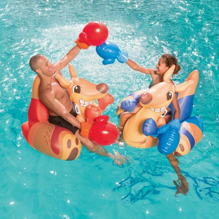 Play Day Inflatable Kangaroo Fight Pool Game (2 Pack)