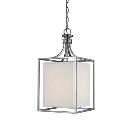 Polished Nickel Lantern Pendant (Midtown Polished Nickel Two-Light Lantern)