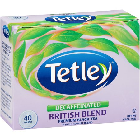 (3 Boxes) Tetley® Decaffeinated British Blend Premium Black Tea Bags 40 ct Box