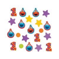 Elmo Turns One Confetti for Birthday - Party Supplies - Licensed Tableware - Misc Licensed Tableware - Birthday - 1 Piece