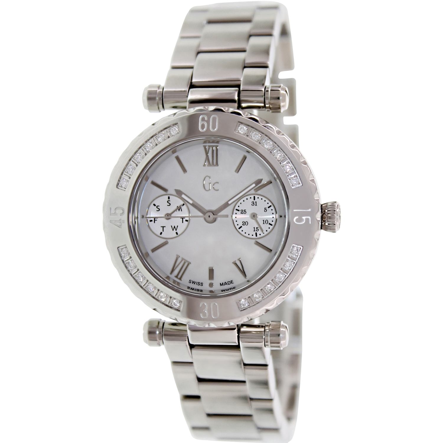 Guess Men's X42107L1S Silver Stainless-Steel Swiss Quartz Fashion Watch