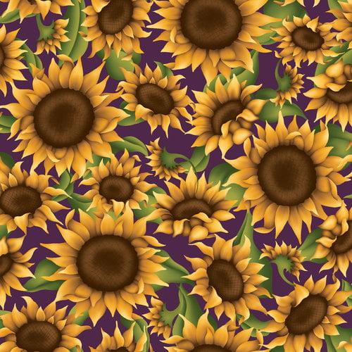 VIP Fabrics Sunflowers Home Decoration Fabric, 74062-V