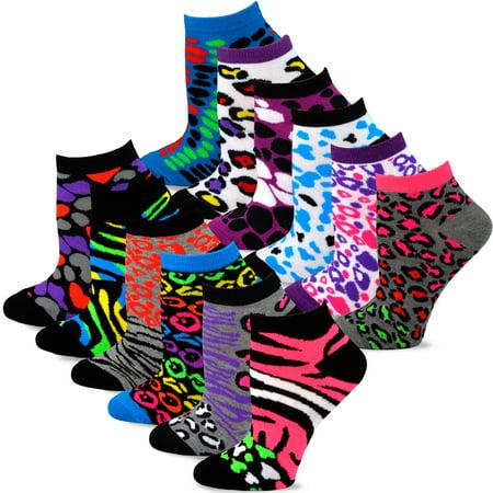 TeeHee Women's Fashion No Show Fun Socks 12 Pairs Packs - Fun And Fun Clothing