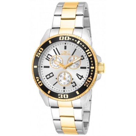 White Dial Two Tone Bracelet (Men's Pro Diver Multi-Function 18k Two-Tone Bracelet Silver-Tone Dial)