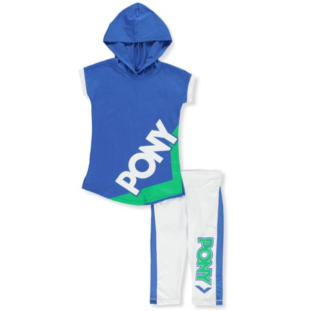 Pony Girls' 2-Piece Capri Leggings Set Outfit (Beer Pong Outfits)