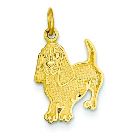 14K Yellow Gold Beagle Dog Charm Pendant Jewelry 14k Yellow Gold Dog Pendant
