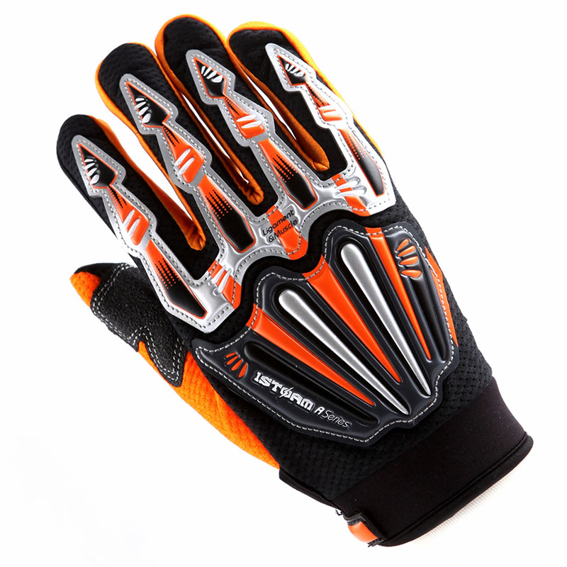 WOW Motocross Motorcycle BMX MX ATV Dirt Bike Bicycle Skeleton Racing Gloves Green