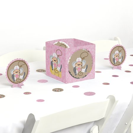 Little Cowgirl - Party Centerpiece & Table Decoration - Cowgirl Decorations